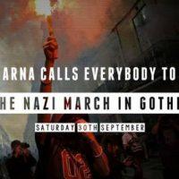 [Suécia] ARNA: Convocação geral para a marcha contra os nazis em Gotemburgo