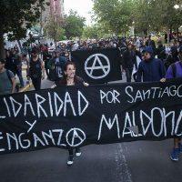 [Chile] Manifestação em memória do anarquista Santiago Maldonado é realizada em Santiago