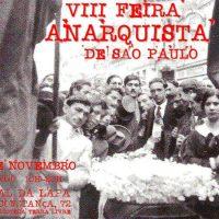 Confira a programação da VIII Feira Anarquista de São Paulo