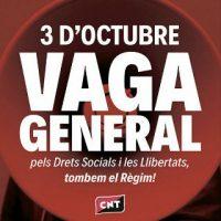 [Espanha] A CNT ante a convocação de greve geral na Catalunha