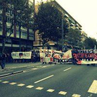 [Espanha] Centenas de antifascistas se manifestam em Barcelona na ocasião do 12 de Outubro