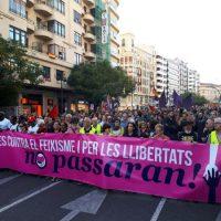 [Espanha] Milhares de pessoas em Valência contra o fascismo e pela liberdade