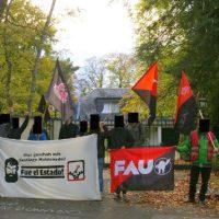 [Alemanha] Em Bonn, protesto em frente ao consulado argentino por Santiago Maldonado