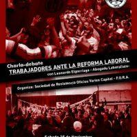 [Argentina] Encontro de trabalhadores/as para analisar o projeto de reforma trabalhista e organizar-nos para enfrentá-lo