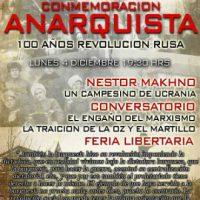 [Chile] Santiago: Comemoração Anarquista 100 anos da Revolução Russa – 4 dezembro