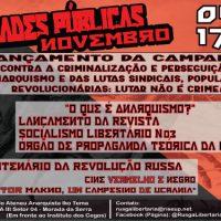 """[Cuiabá-MT]""""Contra a Criminalização e Perseguição do Anarquismo, das Lutas Sindicais, Populares e Revolucionárias: LUTAR NÃO É CRIME!"""""""