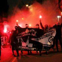 [Rússia] Manifestação anarquista ilegal em Moscou pelo Centenário da Revolução