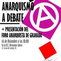 [Espanha] Apresentação do Fórum Anarquista de Granada e debate sobre a situação do anarquismo