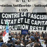 [França] Lyon: Marcha antifascista e anticapitalista em 17 de dezembro