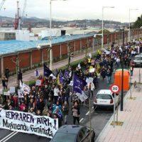 [País Basco] O Feminismo se acorrenta no Porto de Bilbao