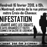 [França] Montreuil: Okupemos as casas, destruamos os cárceres!