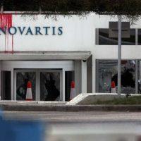 [Grécia] Vídeo: Ataque contra sede da Novartis em Atenas