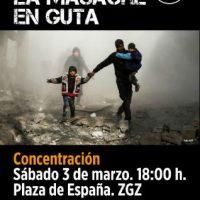 [Espanha] Zaragoza: Paremos o massacre em Ghouta!