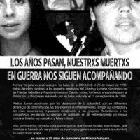 [Chile] Cartaz em memória das companheiras Norma Vergara e Claudia López