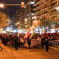 [Grécia] Passeata em solidariedade aos povos curdos de Afrin em Tessalônica