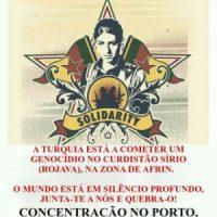 [Portugal] Concentração em solidariedade com a resistência de Afrin no Porto