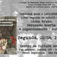 [São Paulo-SP] Lançamento: Terrorismo de Estado, Direitos Humanos e Movimentos Sociais