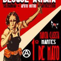 [Chile] Santiago: Bloco anarquista na marcha classista de 1º de Maio