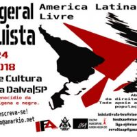 4º Fórum Geral Anarquista – São Paulo – Brasil – 2018.
