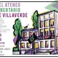[Espanha] XXXVIII Aniversário do Ateneu Libertário de Villaverde | Feminismo, ocupação e autogestão