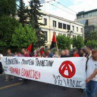 [Grécia] Anarquistas da APO participam de protesto pró-Palestina em Atenas