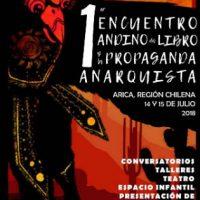 [Chile] Arica: 1º Encontro Andino do Livro e da Propaganda Anarquista – 14 e 15 de julho