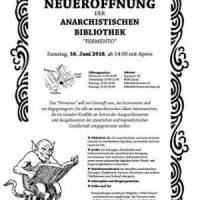 [Suíça] Biblioteca Anarquista Fermento será reaberta neste sábado, em novo espaço