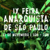 9ª edição da Feira Anarquista de São Paulo acontece em novembro