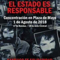 [Argentina] 1º de agosto: Um ano após o desaparecimento e morte de Santiago Maldonado
