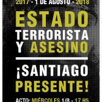 [Argentina] Ato 1º de agosto: Santiago Presente