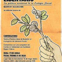 """[Chile] Lançamento do livro """"Municipalismo libertário. A política territorial da Ecologia Social"""" e roda de conversa sobre Curdistão"""