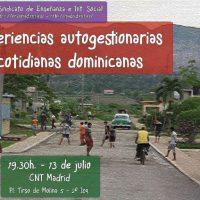 """[Espanha] Madrid: Colóquio """"Experiências autogestionárias cotidianas dominicanas"""""""