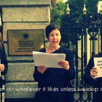 [Irlanda] O Movimento de Solidariedade dos Trabalhadores organizou uma pequena manifestação no dia 20 de junho em solidariedade com os presos políticos na Rússia