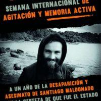 Semana Internacional de Agitação e Memória Ativa | A um ano da desaparição e assassinato de Santiago Maldonado
