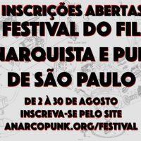 [São Paulo-SP] VII Festival do Filme Anarquista e Punk de SP acontece em dezembro