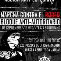 [Chile] Santiago: Bloco Antiautoritário, marcha contra o rodeio