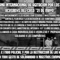 """[Chile] Semana internacional de agitação e propaganda pela nulidade do julgamento do """"Caso 21 de maio"""", a partir de 13 de agosto de 2018"""