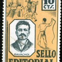 [Espanha] Ravachol, Bakunin ou Durruti em um selo de correios