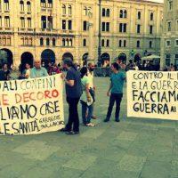 [Itália] Manifestação antirracista e faixas contra a Benetton