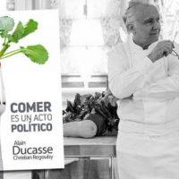 """[Espanha] Lançamento: """"Comer é um ato político"""", de Alain Ducasse e Christian Regouby"""