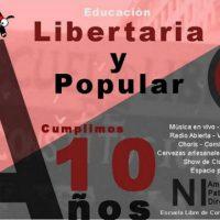 [Argentina] 10 anos de educação libertária e popular e queremos festejar!