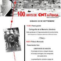 [Espanha] Atos comemorativos do Centenário da CNT Fraga - 29 setembro