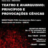 [Florianópolis-SC] Curso livre: Teatro e Anarquismo