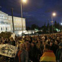 [Grécia] Manifestantes em Atenas protestam contra assassinato de Zak Kostopoulos
