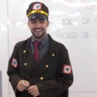[Vitória-ES] Defensor do 'Escola Sem Partido', professor se veste de nazista para dar aula