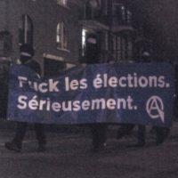 [Canadá] Montreal: Relatório e notas sobre a recente marcha contra as eleições