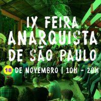 9ª edição da Feira Anarquista de São Paulo muda de data