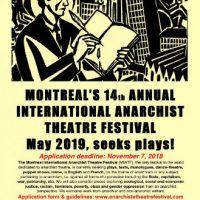 [Canadá] O 14º Festival Internacional de Teatro Anarquista de Montreal procura peças!