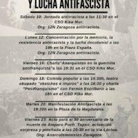 [Espanha] Arranca o mês de memória e luta antifascista de Zaragoza