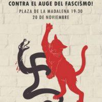 [Espanha] Manifestação antifascista em Zaragoza, 20 de novembro